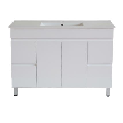 White ployurethane MDF – Standard Vanity M124LG