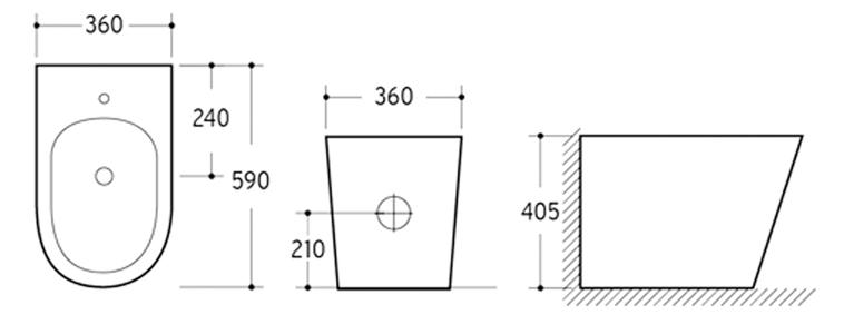Toilet AV202BD-line