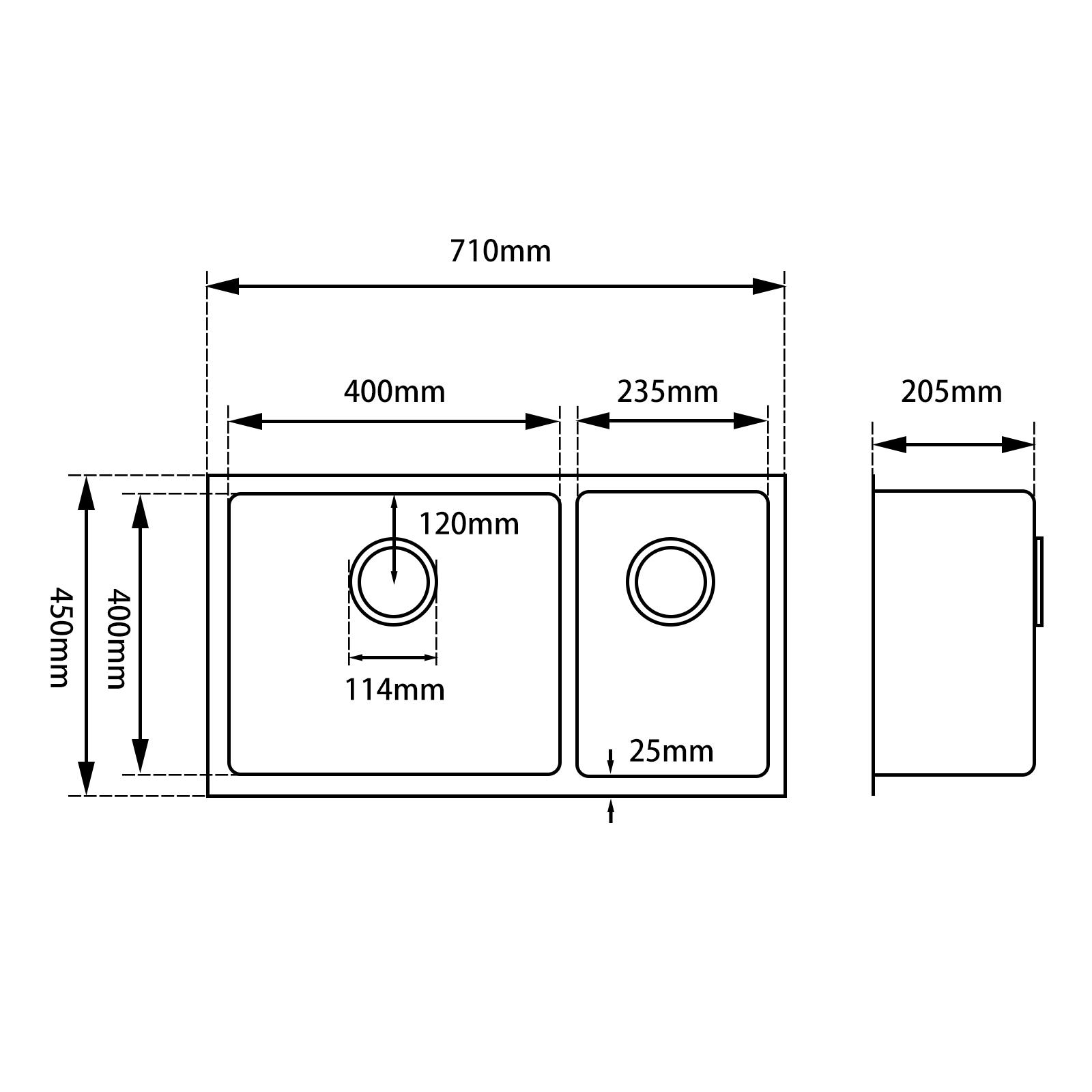 Kitchen Sink BKSD7145-SIZE