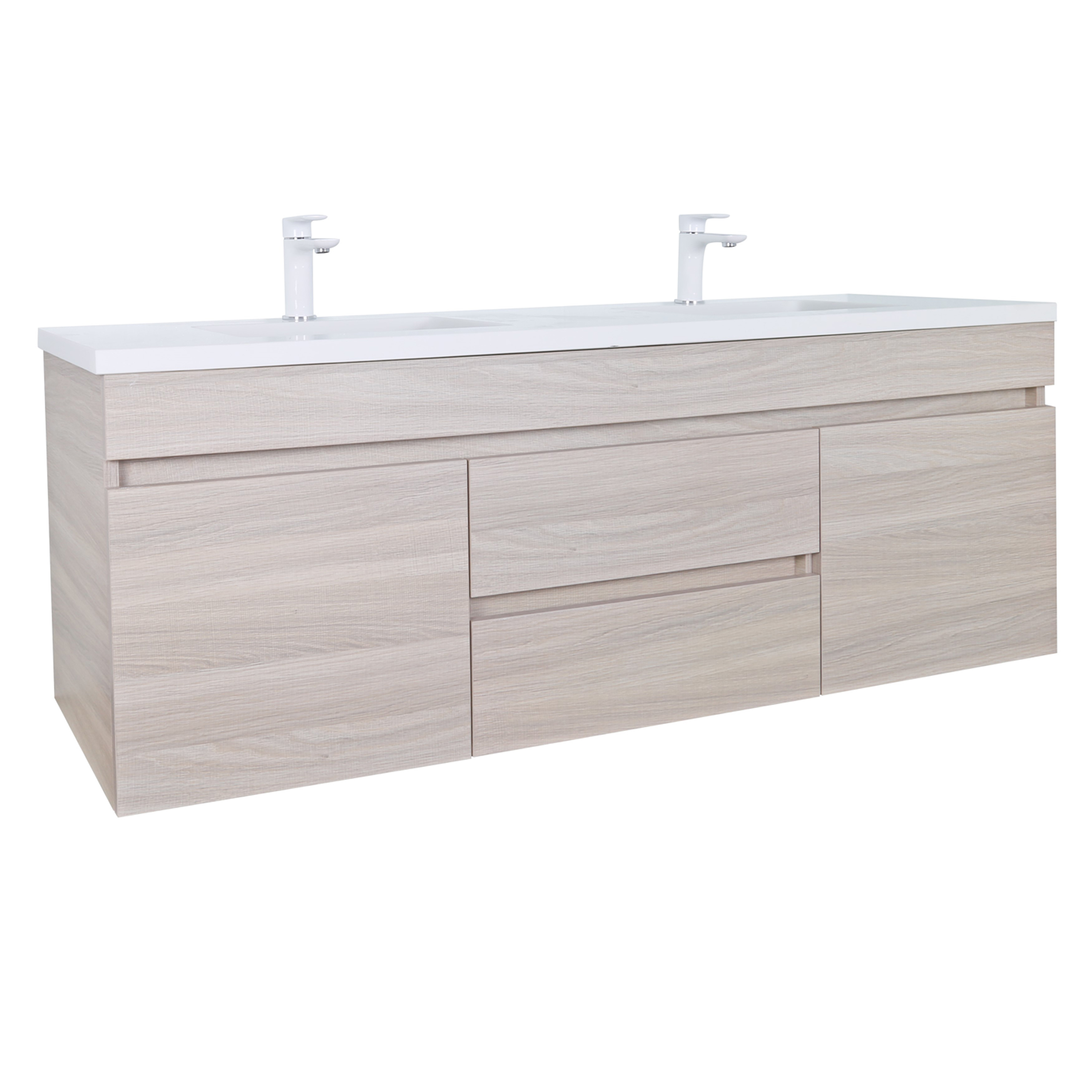 EV124DWH-OAK Evie Color Vanity