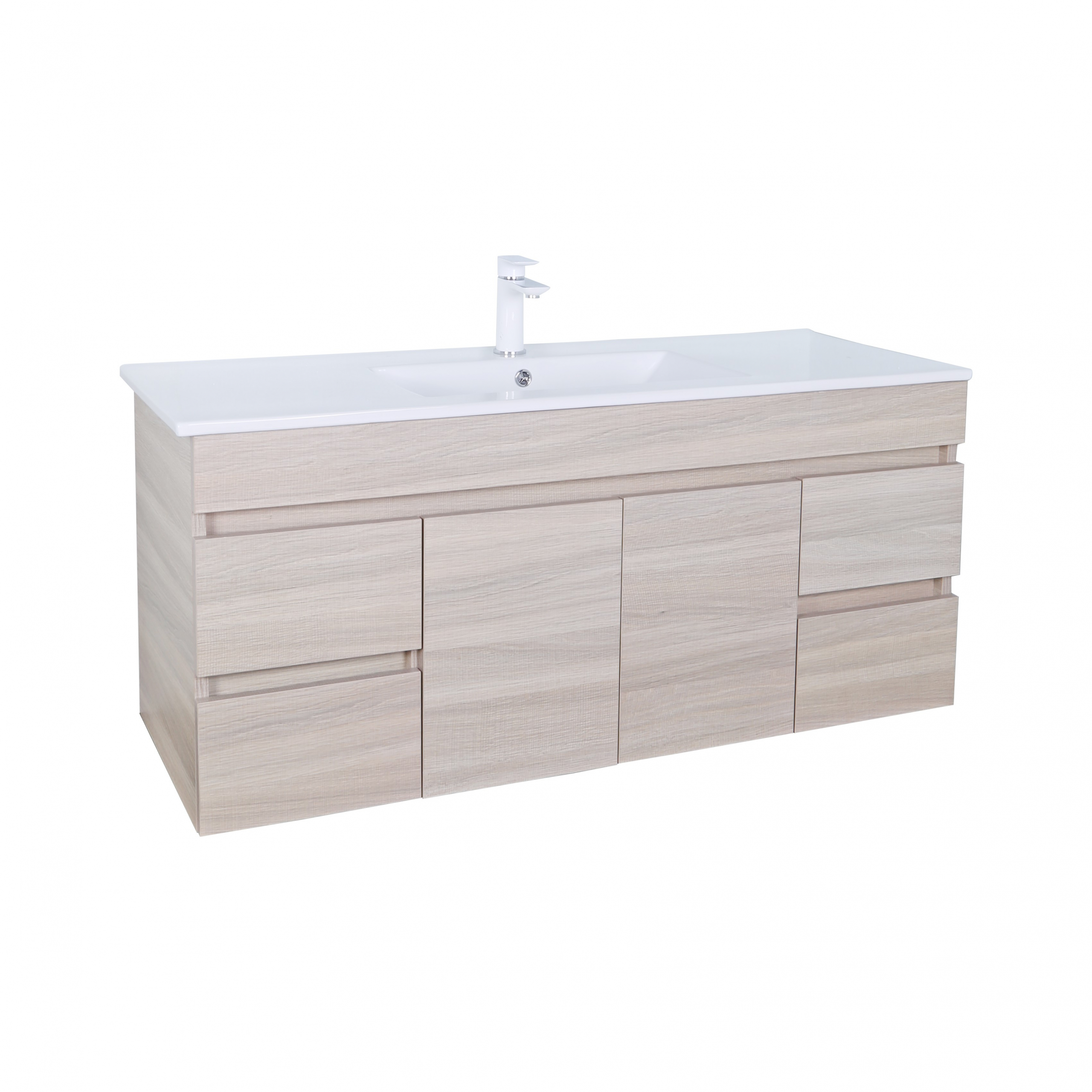 EV124WH-OAK Evie Color Vanity
