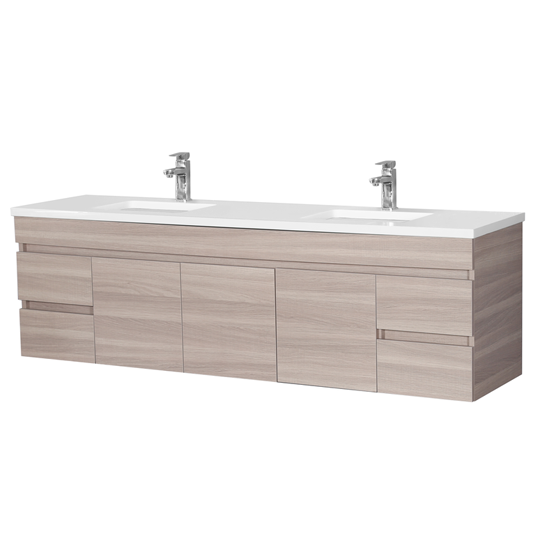 EV184WH-OAK Evie Color Vanity