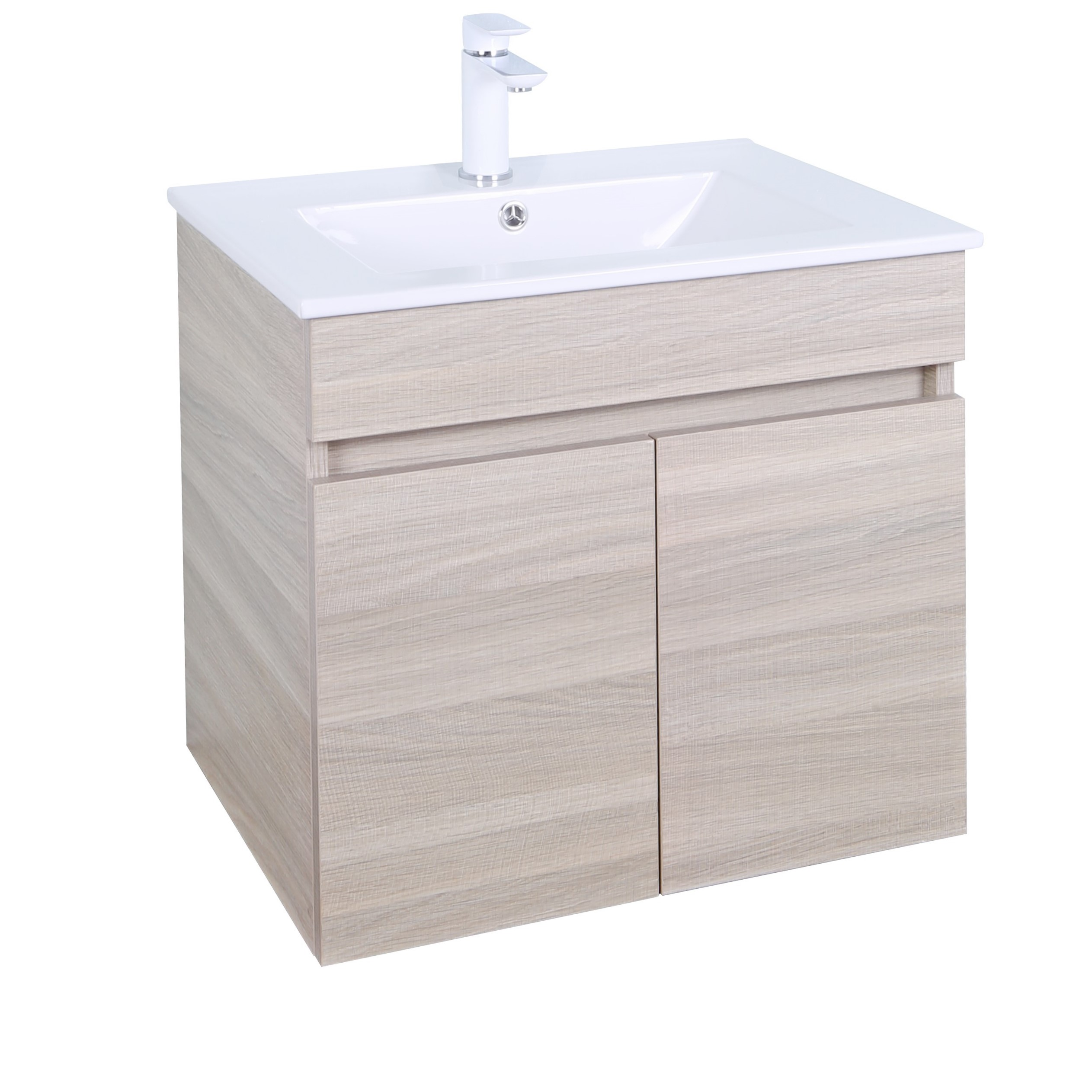 EV64WH-OAK Evie Color Vanity