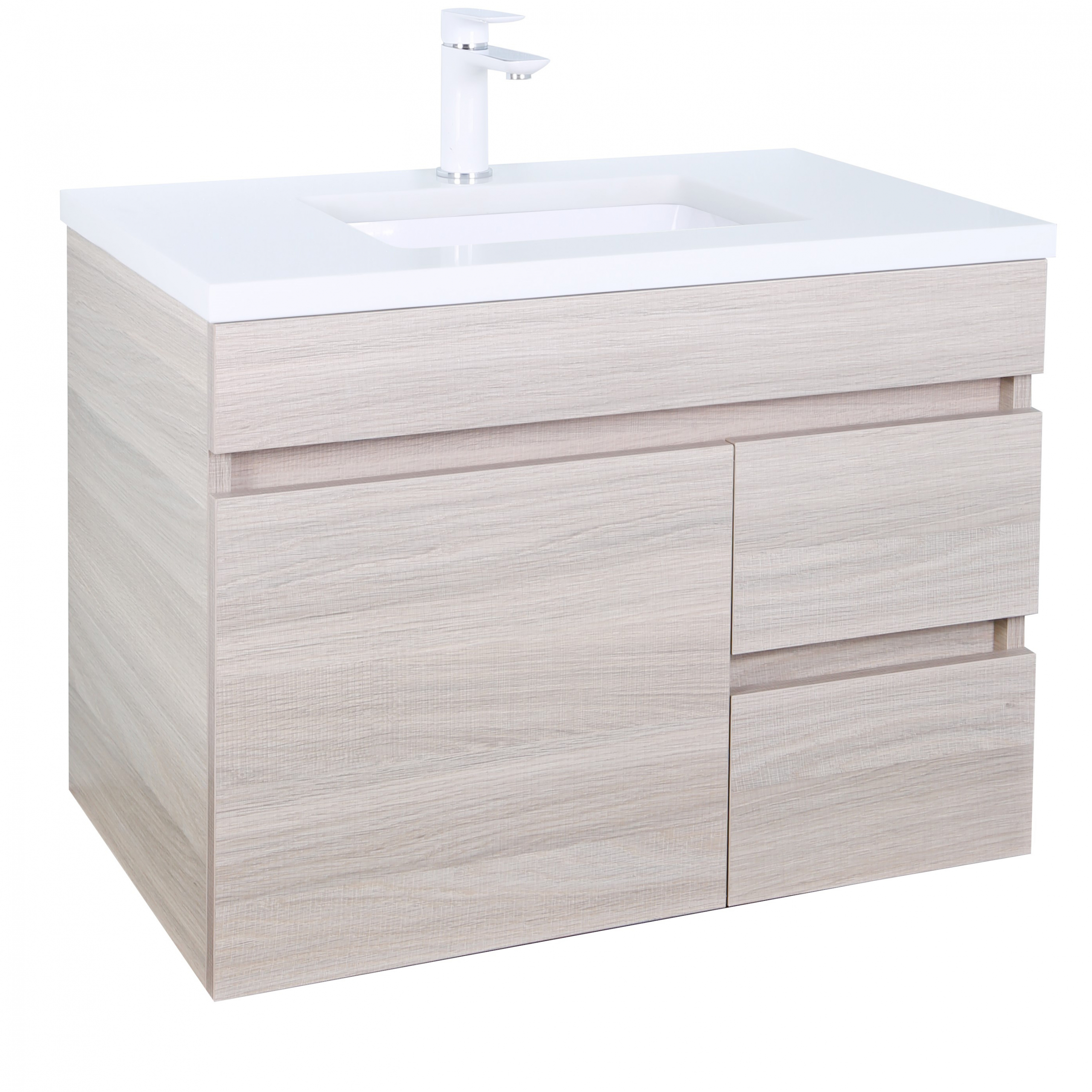 Evie Color Vanity EV74RWH-OAK