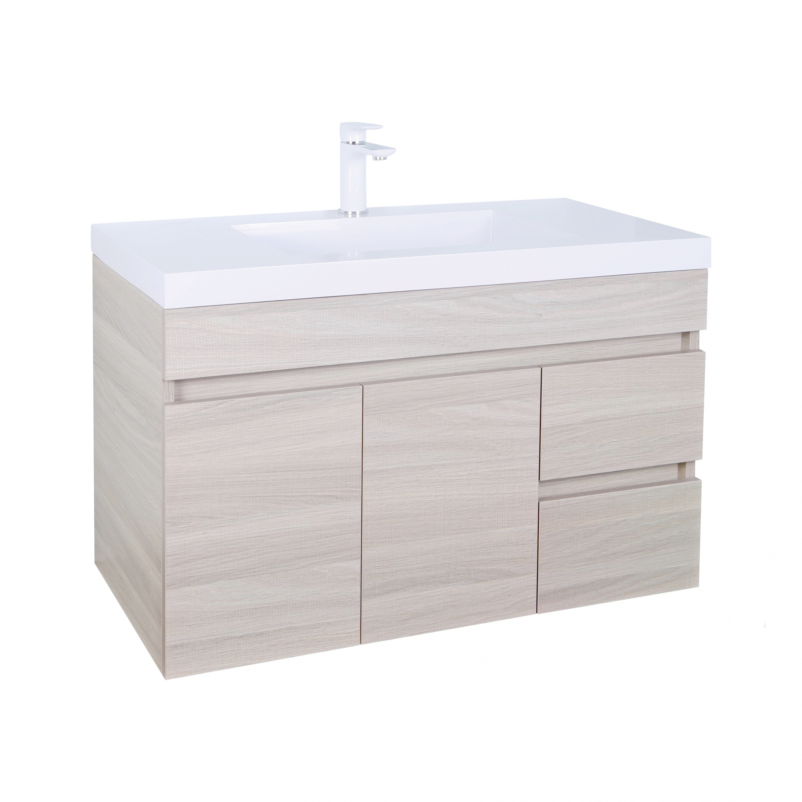 Evie Color Vanity EV94RWH-OAK
