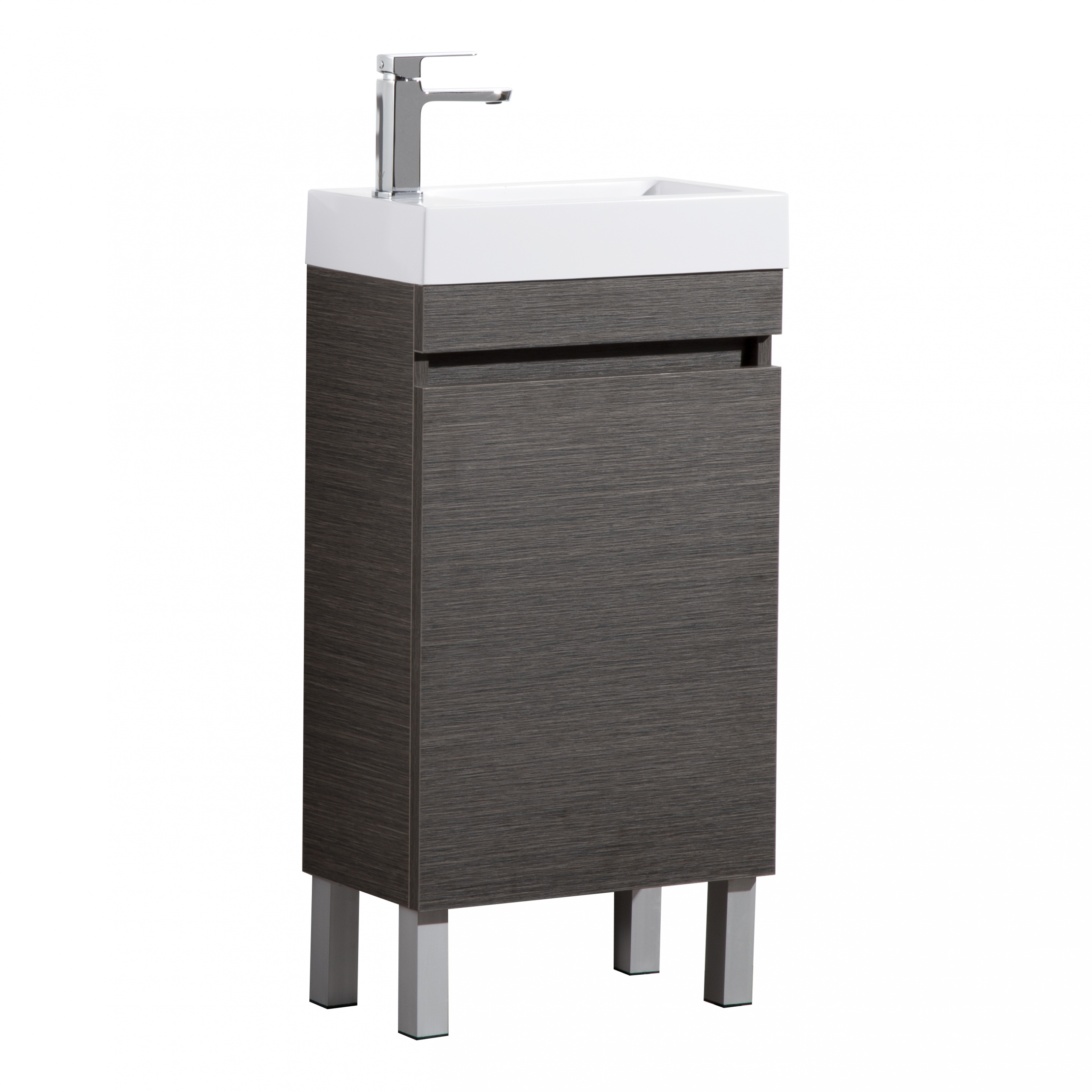 EVIE DARK BROWN PVC MINI VANITY EV42LG-DB