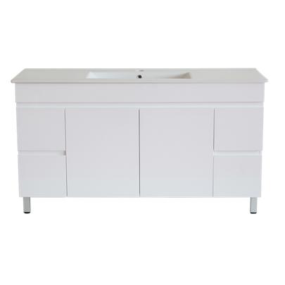 White ployurethane MDF – Standard Vanity M154LG