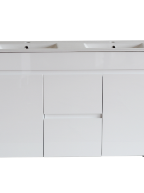 White ployurethane MDF – Standard Vanity M124DLG