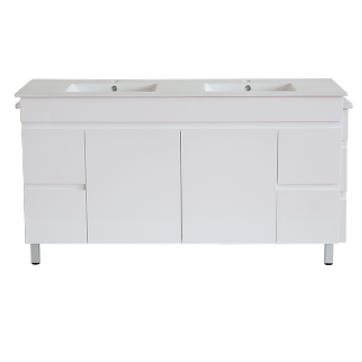 White ployurethane MDF – Standard Vanity M154DLG