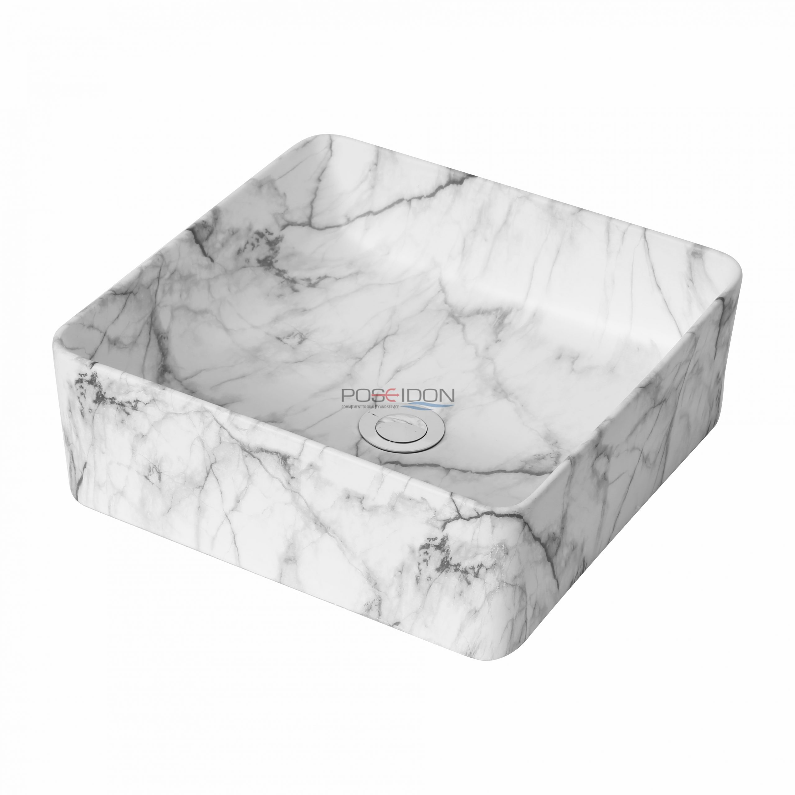 Matte White Carrara PA3737CRA Fine Ceramic Basin