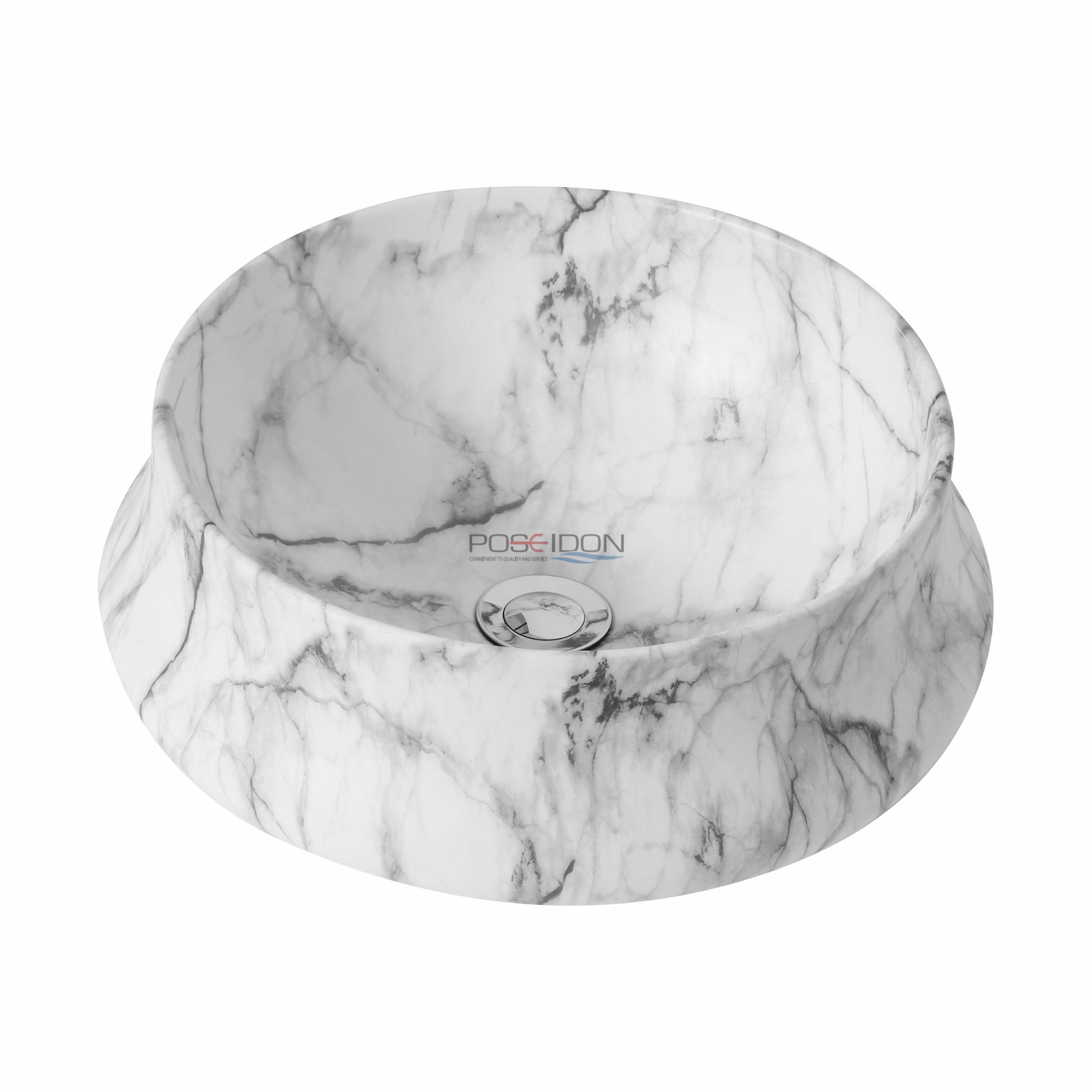 Matte White Carrara PA4040CRA Fine Ceramic Basin