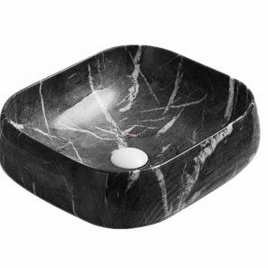 Gloss Black Marble PA4540BM Fine Ceramic Basin