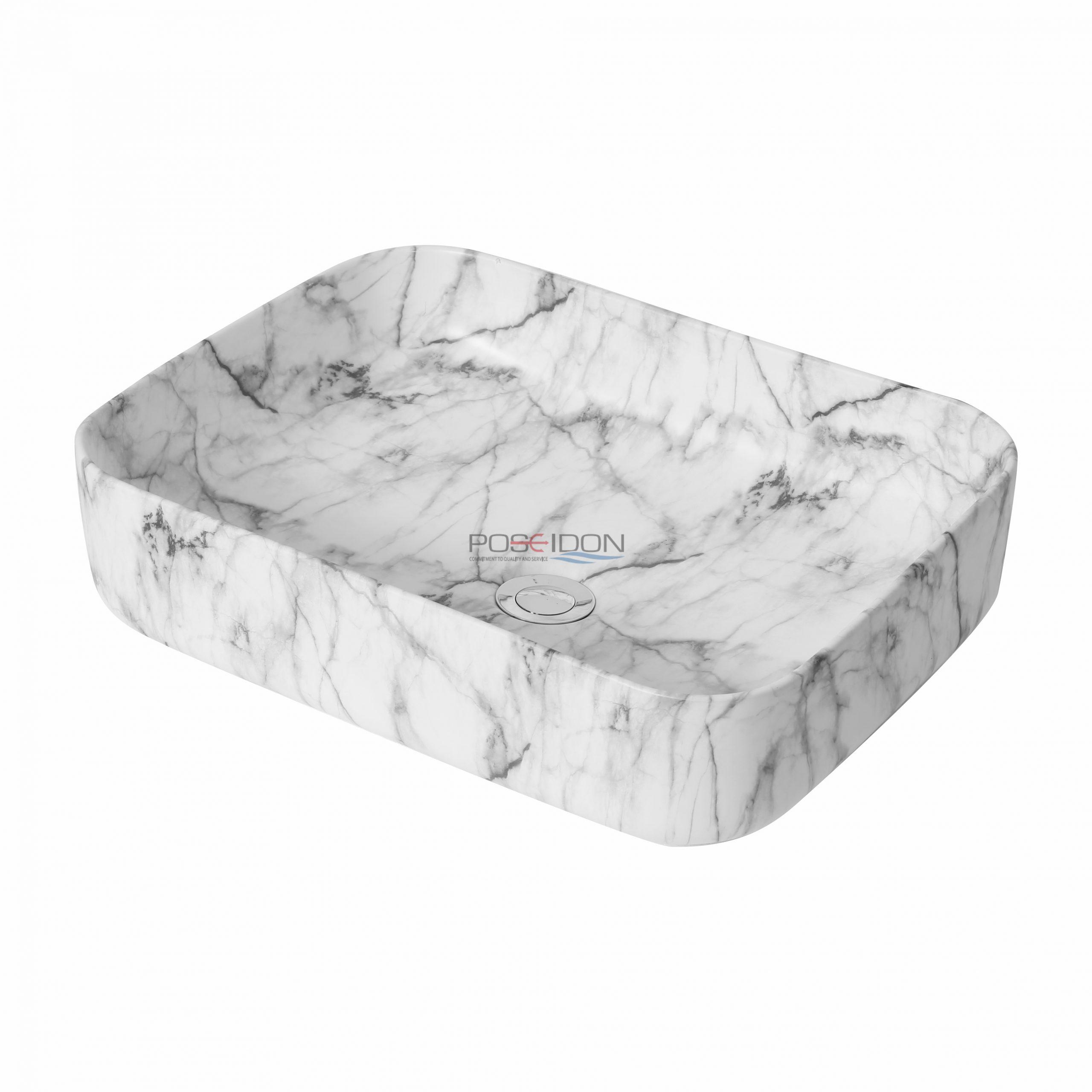 Matte White Carrara PA5039CRA Fine Ceramic Basin