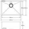 Kitchen Sink PKSS550-Line-1-100x100