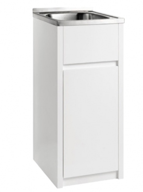 30 Litre Stainless Laundry Tub with PVC cabinet PPLT390
