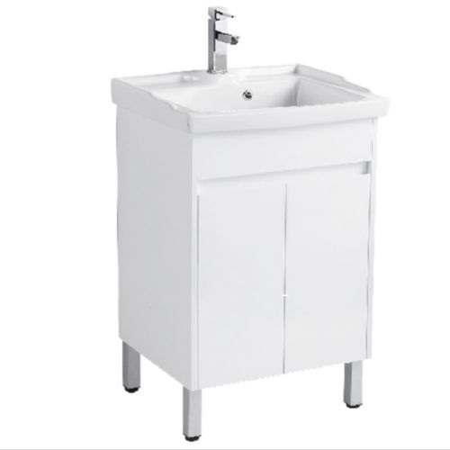 PVC canbinet with ceramic laundary sink Soft closing doors PP2061-LG