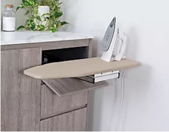SWIVEL IRONING BOARD CABINET Pure Silk 675mm Floor Cabinet with Drawers