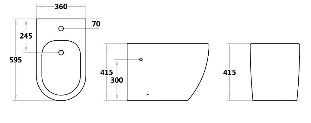 Toilet Veda205-L