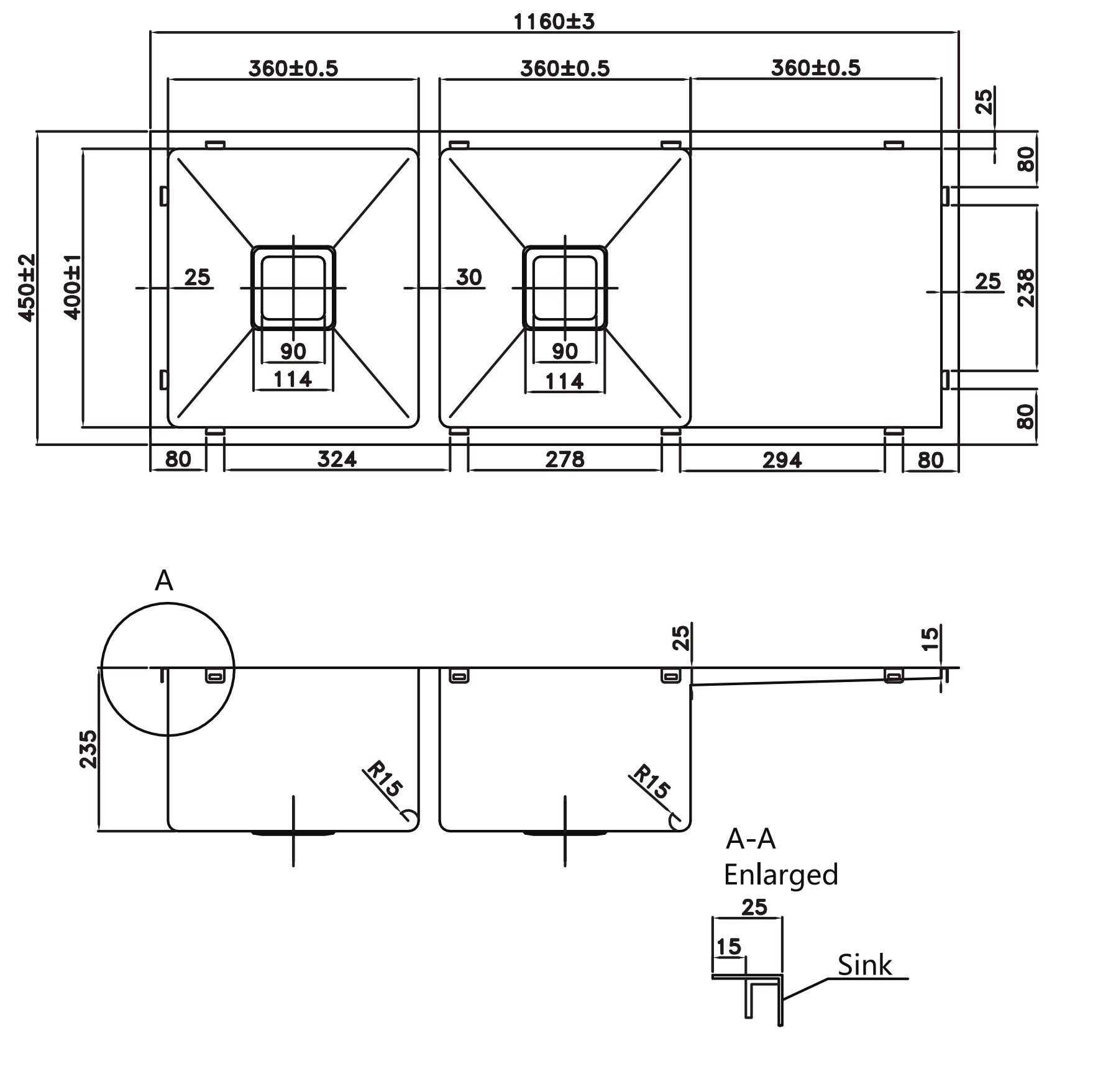 Kitchen Sink pks-1160sline