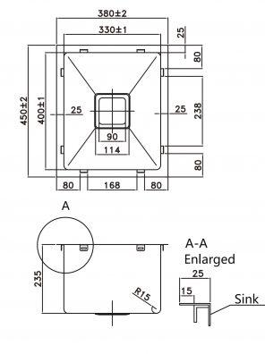 Kitchen Sink pkss-380sline